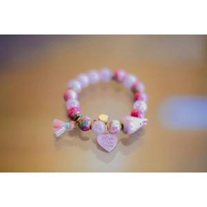 Pierre Bead Bracelet (Pink)
