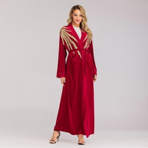RED ABAYA DRESS AD02