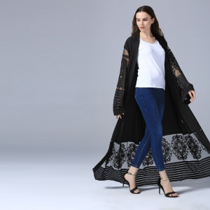 BLACK ABAYA DRESS AD04