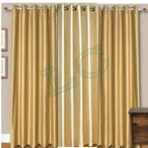 Plain Readymade Eyelet Curtains lc011