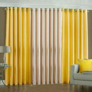 Plain Readymade Eyelet Curtains lc008