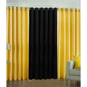 Plain Readymade Eyelet Curtains lc003