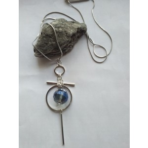 Blue Crystal Ball Necklace