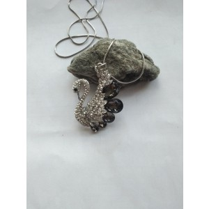 Rhinestone Swan Necklace