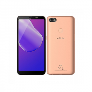 Infinix Hot 6 (X606) 6-Inch HD+ (1GB RAM, 16GB ROM) Android 8 Oreo, 13MP + 5MP Dual Sim 3G Smartphone Blush Gold