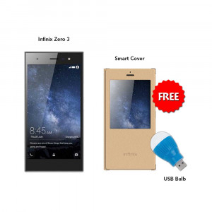 Infinix Zero 3 16 GB (Grey) With Smart Cover & Led Bulb