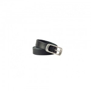 John Buck - Ladies Leather Belt Dark Black