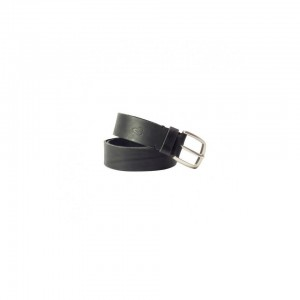 John Buck Men's Leather Belt Black