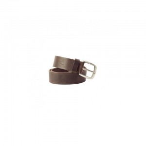 John Buck Men's Leather Belt Dark Brown