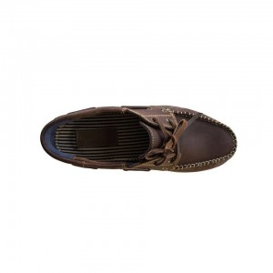 John Buck Men's Moccassins Dark Brown