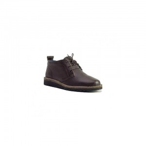 John Buck Men's Veldskoen Shoes Dark Brown