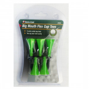 World of Golf Big Mouth Flex Cup Tees Green (JR205)