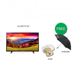 """LG LED TV 32"""" 32LH500D With free Kitchen Scale & Umbrella"""
