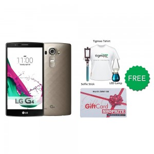 LG G4H818P 32GB (Shiny Gold) With Free Selfie Stick + Tigmoo Tshirt & Led Bulb + Shoprite Voucher