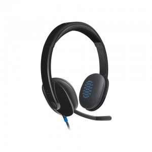 Logitech H540-USB COMPUTER HEADSET With NOISE CANCELING MIC,High-Definition sound and on-ear controls