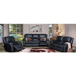 Lyla 3-2-1 Recliner Lounge Suite Black