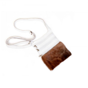 Mirelle Genuine Leather Nguni Crossbody Handbag 3 pockets