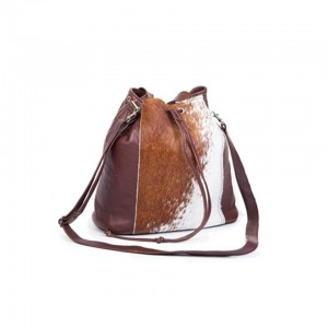 Mirelle Genuine Leather Drawstring Women Bag | Nguni