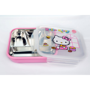 Hello kitty rectangle lunch box with 4 partitions (750 ml)