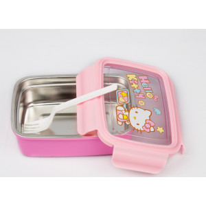 Hello kitty rectangle lunch box with fork (750 ml)