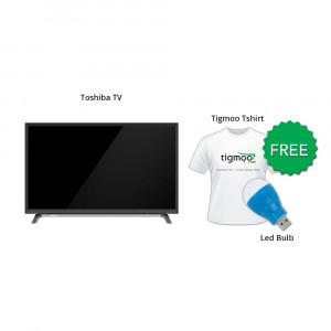 Toshiba 32L2600 TV With Free Tigmoo Tshirt & Led Bulb