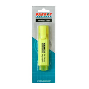 Parrot Marker Highlighter (Chisel Tip - Carded Yellow)