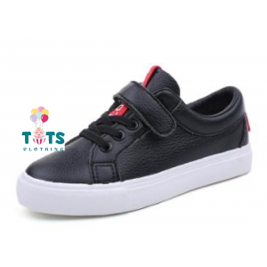 Boys Black Shoe with White Sole