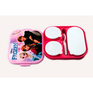 Frozen Elsa and Anna children's lunch box lid compartments