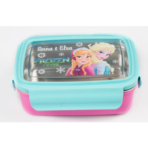 Frozen Elsa and Anna rectangle lunch box with fork(750 ml)