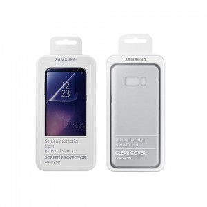 Samsung S8 Plus Clear Cover and Screen Protector Pack