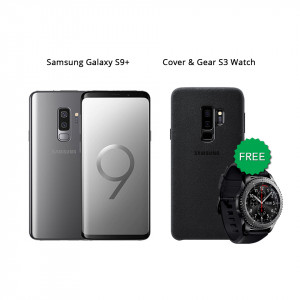 Samsung Galaxy S9 Plus 64 GB (Titanium Gray) With Samsung Gear S3 Watch & Alcantara Cover