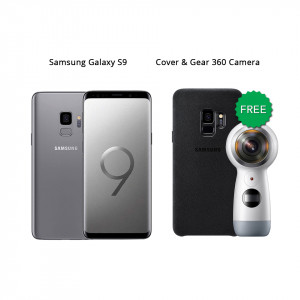 Samsung Galaxy S9 64 GB (Titanium Gray) With Samsung Gear 360 Camera & Alcantara Cover