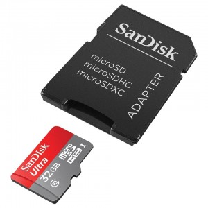 SanDisk 32GB Ultra microSD UHS-I Card with Adapter - Transfer speed up to 80M/s