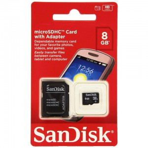SanDisk 8GB Mobile MicroSDHC Class 4 Flash Memory Card With Adapter- SDSDQM-008G-B35A