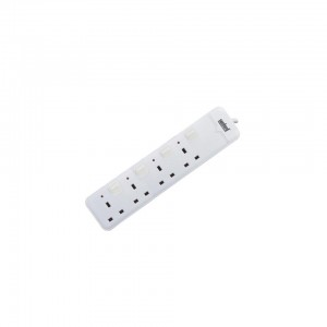 SANFORD 4 WAY EXTENSION SOCKET WITH OVERLOAD,3 x 1.5mm Full copper wire,Fire Resistant. Voltage: AC 250V ~ 50/60Hz.  SF10119ES