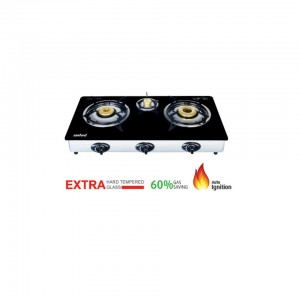 SANFORD SF5325GC BLACK 3 BURNER GAS STOVE