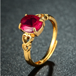 Fuchsia Oval Ring