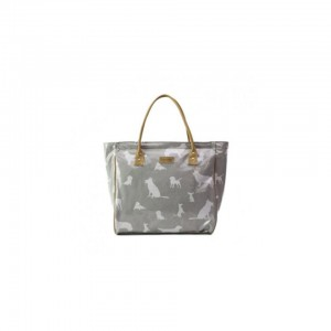 Mirelle Emily Louise Shopper Bag - Dogs - Grey and White