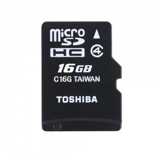Toshiba HIGH SPEED M102 16GB memory card MicroSD Class 4 W/O Adapter THN-M102K0160M4