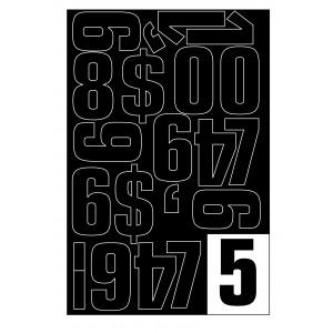 Parrot Vinyl Numerals Capitals 50MM (Black)