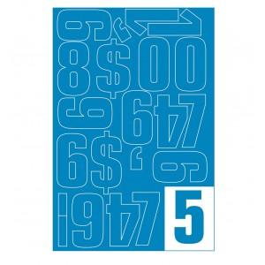 Parrot Vinyl Numerals Capitals 70MM (Blue)