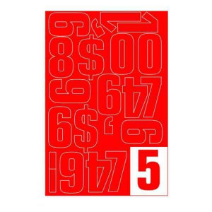 Parrot Vinyl Numerals Capitals 50MM (Red)