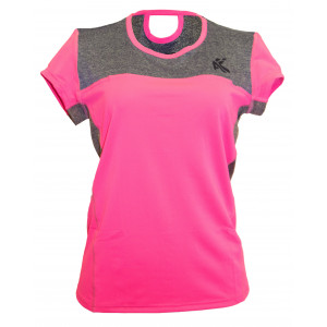 Women's Tech T shirt( Dark Pink)