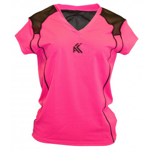 Women's Mesh T shirt(Dark Pink)