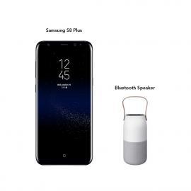 Samsung Galaxy S8+ 64GB (Midnight Black) With Bluetooth Speaker